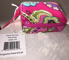 VERA BRADLEY 7 Day Travel Pill Case in PINK SWIRLS 2014 Color NWT great gift