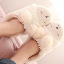 1pair cartoon cute sheep Stuffed Slippers Plush Shoes Soft Warm Home Slipper