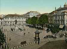 Porto. Praça de Almeida Garrett.   PZ vintage photochromie, photochrom photoch