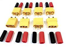 10 Stück (5 Paar) XT90 Nylon ESC Lipo Akku Stecker Buchse inkl. Schrumpfschlauch