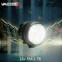 MTB 60000Lm 16x XM-L T6 LED 3 Mode Bicycle Light Bike Front Lamp Torch Headlight