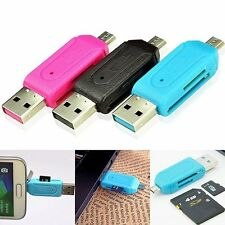 2-in-1 OTG SD Micro T-Flash Memory Card Reader Adapter For Cell Phone&PC iPad