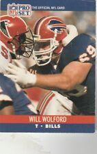 FREE SHIPPING-MINT TO NRMINT--1990 Pro Se #445 Will Wolford BILLS