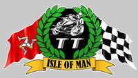 ISLE OF MAN TOURIST TROPHY ILE DE MAN STICKER RACING TRACK 14cmX7,5cm IA068