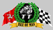 ISLE OF MAN TOURIST TROPHY ILE DE MAN STICKER RACING TRACK 140mmX75mm IA068