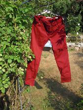 rote ZARA Hose eng geschnitten, Baumwolle, kaum getragen