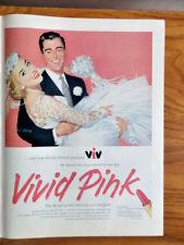 1956 New VIV Lipstick Ad Vivid Pink 1956 Ansco Film Cameras Ad