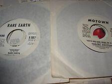 "THELMA HOUSTON, RARE EARTH 70s music ( r&b ) - 2x7"" LOT / 45 - PROMO -"