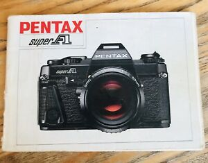 Pentax Super A Camera Instruction Manual - Original not a Copy Vintage Freepost