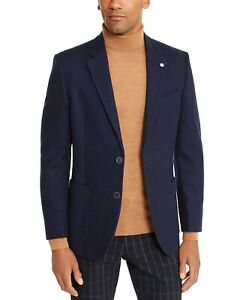 Nautica Mens Modern-Fit Wool Blend Blazer Jacket -Navy Blue- 36S