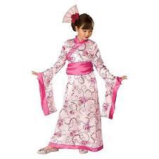 Asian Oriental Pink Princess Small 3 - 4 Girls Geisha Costume