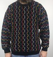 Vintage 90s Tundra Canada Sweater Men M Medium Pullover Biggie Cosby Coogi Style