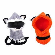 Fuchs Form Kinder Winterhut Strickmuetzen Fox Design Baby Hut mit Halsschal Ato
