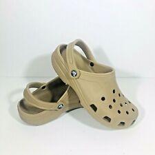 Crocs Men's Women's Lightweight Original Classic Clog Shoes 10001 Tan Sz 7 / 9