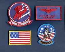PETE MAVERICK MITCHELL TOP GUN MOVIE NAVY F-14 TOMCAT Squadron Costume Patch Set