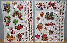 Glitzer Sticker Aufkleber Bogen Weihnachten Winter Schnee Vögel Tiere Geschenk