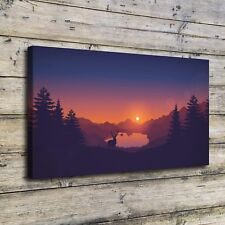 Firewatch HD Canvas prints Painting Home paint decor Picture Wall art Poster