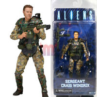 "NECA Alien Sergeant Craig Windrix Marine 7"" Action Figure Aliens Movie Series 2"