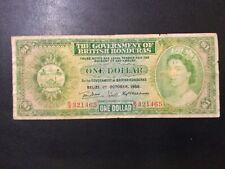 1958 BRITISH HONDURAS PAPER MONEY - ONE DOLLAR BANKNOTE!
