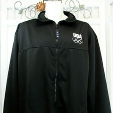 USA Olympics Games XL Mens Track Jacket Embroidered Logo United States Black