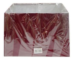 "13"" 15"" 17"" Red Rectangular Table Lamp Shade Modern New"