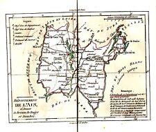 CARTE GRAVEE ET REHAUSSEE A L' AQUARELLE BRION DE LA TOUR 1792 DEPARTEMENT AIN