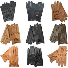 Real Leather Men's Classic Driving Dressing Fashion Gloves Unlined Chauffeur