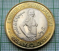 SENEGAL 2006 6000 CFA FRANCS or 4 AFRICA, JOY S. PRIDE OF AFRICA BI-METALLIC UNC