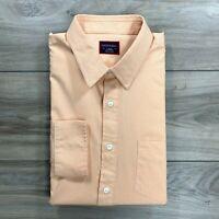 UNTUCKit Men's Long Sleeve Button Down Shirt Orange Salmon Size Large L