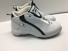Men's Reebok S2D Speed Flex shoes White Leather Athletic Sneakers - Size 8 (I)