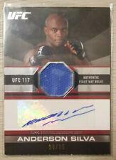2011 Topps Anderson Silva Matt Hughes Autograph Fight Mat 20 of 25 RARE. UFC 117
