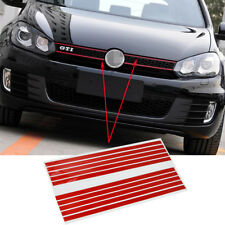 Red Front Grill Kidney Assembly ABS Sticker Badge Emblems Decal For VW