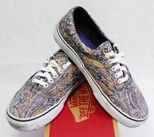 Vans Era x Liberty of London Gray Paisley Low Top Sneakers size 7.5