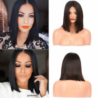 Lace Front Human Hair Wigs 100% Real Straight BOB Full Wig Baby Hair for Women