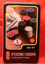Poker Chips/ Professionales Game/ Neu OVP/ 80 Chips / + Kartenspiel* Ab 10+
