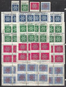 1971 554p-#557p(TAGGED) CHRISTMAS ISSUE MATCHED SET CORNER BLOCKS + MINT SET NH