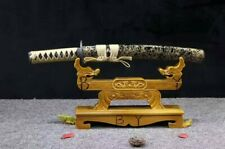 Japanese Tanto T10 Steel Clay Tempered Snow Japanese Samurai Sword Tanto