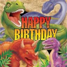 Dino Blast 3-Ply Happy Birthday Lunch Napkins 16 Pack Dinosaur Birthday Party