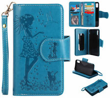 Leather Flip 9 Slots Card Stand Case Wallet Cover Fr Samsung Galaxy Series Phone