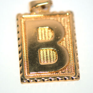 Mens Fashon Accessories Gold Jewelry Cool Letter B Pendant for Chain Necklace