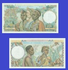 French West Africa 5000 Francs, 22.12.1950.  UNC - Reproductions
