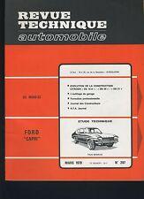 (30B) REVUE TECHNIQUE AUTOMOBILE FORD CAPRI / CITROEN DS19A-DS20-DS21