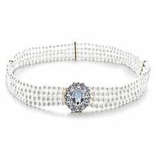 Women Ladies Rhinestone Belt Diamante Buckle Pearl Waist Bridal 711