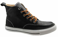 Converse Chuck Taylor Classic Hi Tops Mens Leather Boots Black 125647C B43E