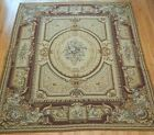 EXCELLENT AUBUSSON FRENCH HAND WOVEN WOOL LARGE ORIENTAL RUG CLEANED 8.10 x 11.5