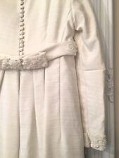 Vintage 1960s Petite Silk Empire Waist Wedding Dress Bianchi Brand
