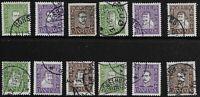 Denmark Scott #164-75, Singles 1924 Complete Set FVF Used
