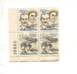 1978 Orville and Wilbur Wright Aviation Pioneers 31 cent Air Mail stamp