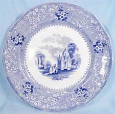 Antique Columbia Blue Transferware Dinner Plate W Adams ca 1850 Transfer Nice!