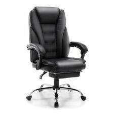 Office Chair Executive Gaming Massage Pu Leather Computer Desk Chair Footrest
